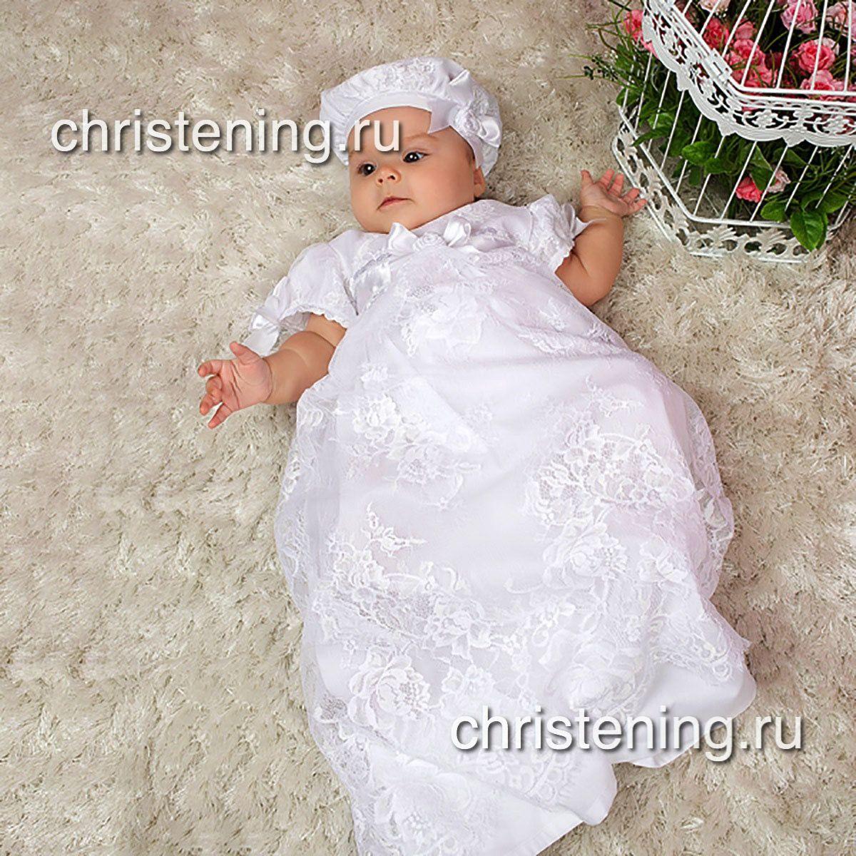 ВАРВАРА рубашка для крещения кружевная