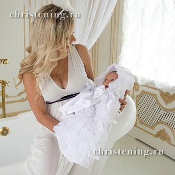 Конверт на выписку для новорожденных с кружевом купить