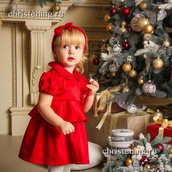 ПРАЗДНИЧНОЕ красное платье для девочки