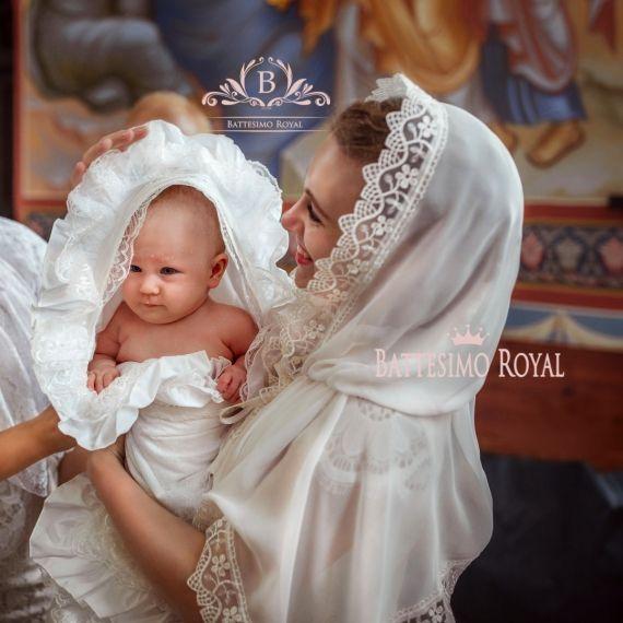 РОСКОШНАЯ крыжма для крещения девочки или мальчика