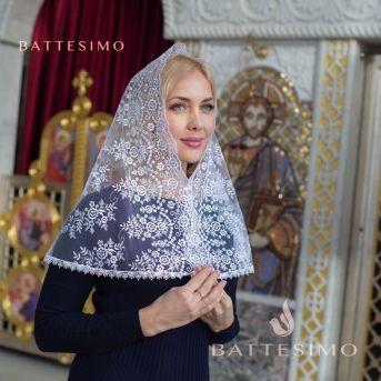 Кружевной платок в церковь ИЗОЛЬДА