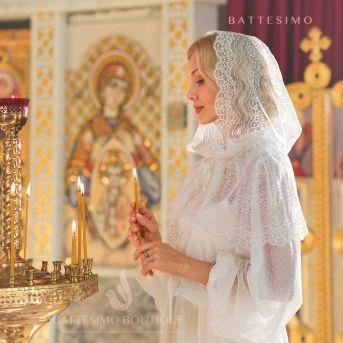 ИЗАБЕЛЛА мантилья капор в церковь