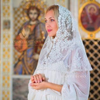 МАНТИЛЬЯ в храм для крестной мамы