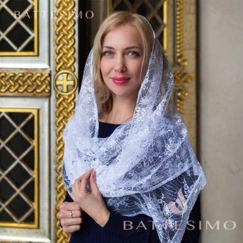 Белисса кружевной шарф в церковь
