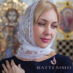 Кружевной платок в храм РОЗАЛИ