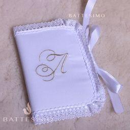 конвертик для перового локона с крестиком фото