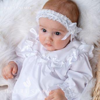 Крестильная рубашка с вышивкой крестика Ангелочек