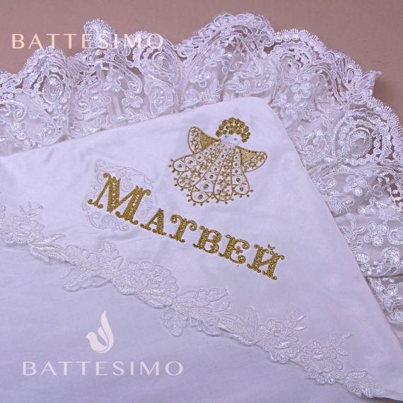 Вышивка имени на пеленке шрифт барокко