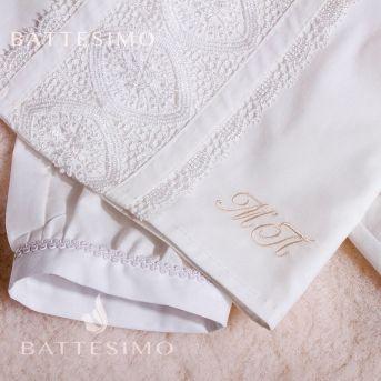 Вышивка ИНИЦИАЛОВ на полотенце (Mon Amour)
