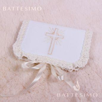 Крестик КАТОЛИЧЕСКИЙ вышивка на крестины