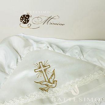 Крестик КАТОЛИЧЕСКИЙ С ГОЛУБЕМ вышивка