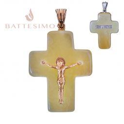 Крестик из янтаря 31182