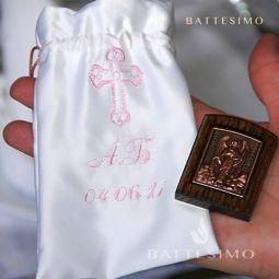 бонбоньерка на крестины с вышивкой фото