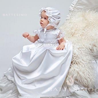 Рубашка для крещения ручной работы Евангелина фото