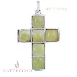 Крестик янтарный