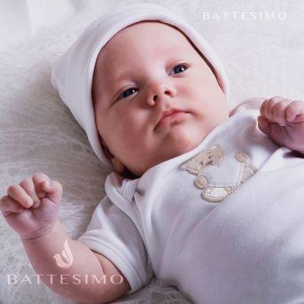 БОДИ белый с аппликацией для новорожденных
