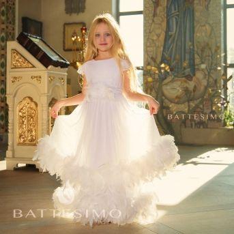 МИА белое платье с боа