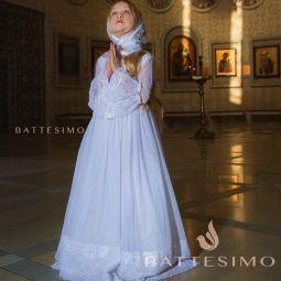 Ангелина - белое платье для девочки