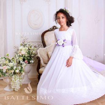 МАРГО - белое платье для девочки