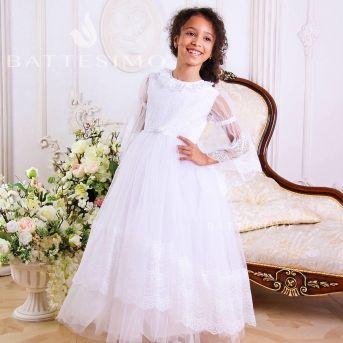 ИЗАБЕЛЛА - белое кружевное платье