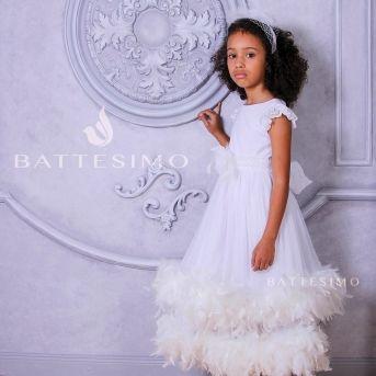 ОЧАРОВАНИЕ платье с белым боа