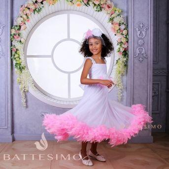 БАРБИ - праздничное платье с боа
