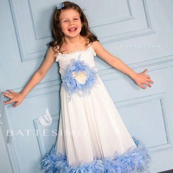 ЗОЙЯ - голубое платье для девочки