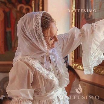 ШАРЛОТТА - платок с кружевом