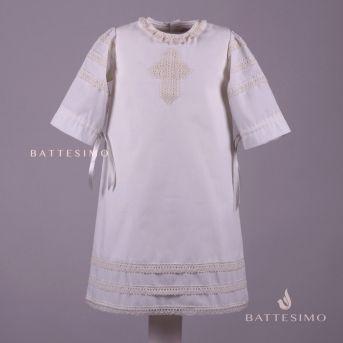 АЖУРНАЯ - классическая рубашка для крестин