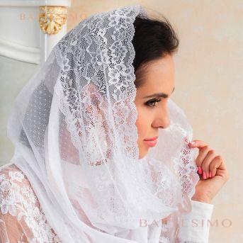 Кружевной платок-снуд