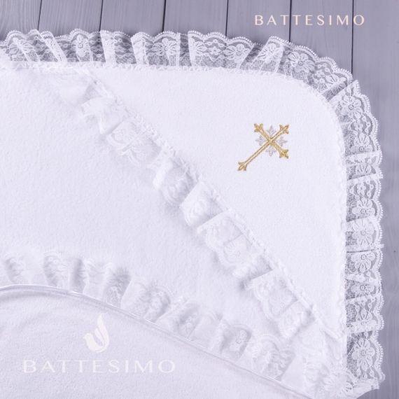 Махровое крестильное полотенце БАТТЕСИМО