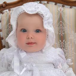 ИЗОЛЬДА - кружевная шапочка для девочки